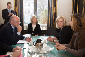 Commissioner Corina Cretu in Paris